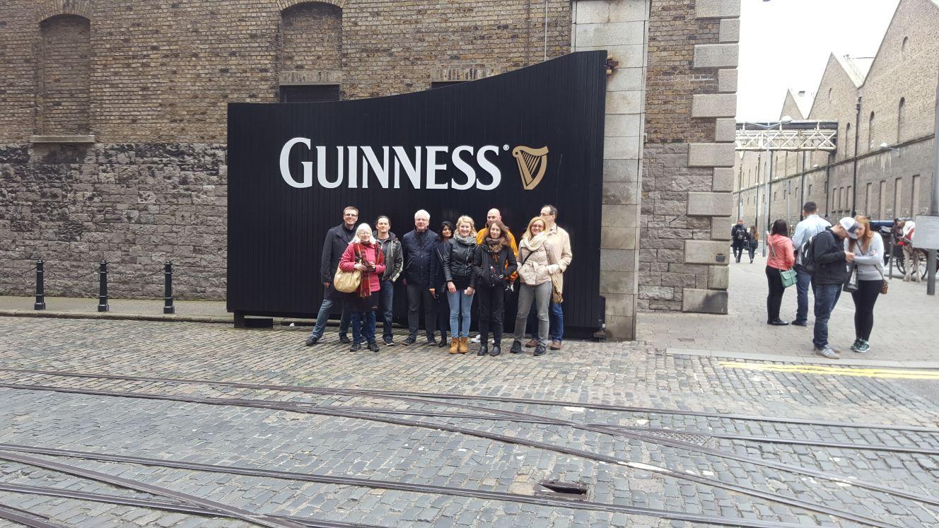 ALIGNED team members outside the Guinness Storehouse